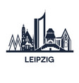 detailed emblem city leipzig germany vector image vector image