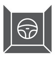 driving simulator glyph icon gaming and drive vector image vector image
