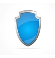 Empty metal shield blue vector image
