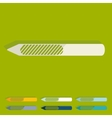 Flat design nail file vector image
