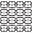 floral paisley seamless pattern black and white vector image vector image
