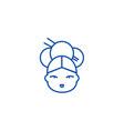 geisha line icon concept geisha flat vector image