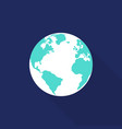 globe icon flat design isolated vector image