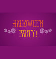 halloween party on purple background vector image vector image