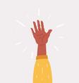 hand five gesture vector image vector image