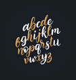 hand lettering alphabetcalligraphy font vector image vector image