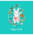 Happy easter 9 vector image vector image