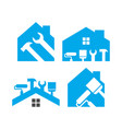 home maintenance logo design template vector image