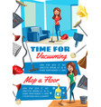 housework or household chores and tools vector image vector image