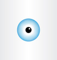 human eye blue pupil symbol vector image