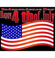 independence day 4 july vector image vector image