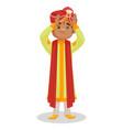 indian groom cartoon character vector image