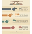 Infographic template with hands and text vector image vector image