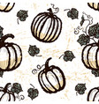 ink hand drawn seamless pattern with pumpkins vector image vector image