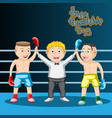 international friendship day kids boxing a vector image vector image