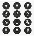 lighting icon set round vector image vector image