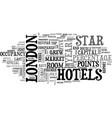 london hotel market booms text background word vector image vector image