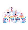 love parade rainbow lgbtq pride activism vector image