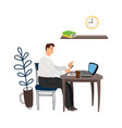 manager at work vector image