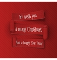 Merry Christmas and happy New Year Ribbons Set vector image vector image