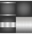 Metal And Aluminum Backgrounds Set vector image