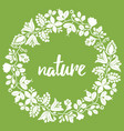 nature floral wreath vector image vector image