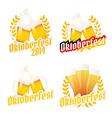 Oktoberfest labels badges and menu elements vector image