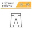 pants editable stroke line icon vector image vector image