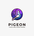 pigeon template vector image