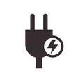 Plug and high voltage sign vector image vector image