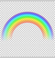 rainbow isolated on transparent background vector image vector image
