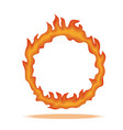 ring fire circle surrounded hot red vector image vector image