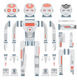 robot design attributesbody parts and other vector image