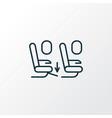 seat feet space icon line symbol premium quality vector image vector image