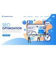 seo optimization website presentation vector image vector image