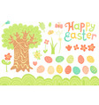 set festive decorations for happy easter vector image vector image