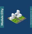 set isometric skyscrapers street vector image vector image