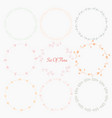set of hand drawn round frames for decoration vector image vector image