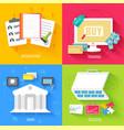 set of social business life design vector image
