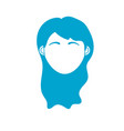 Silhouette woman head with closed eyes and