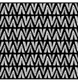Simple black and white pattern with hand drawn vector image
