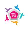 social media - logo template vector image