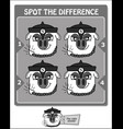 spot the difference black scorpio game vector image vector image