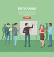 startup planning internet info page vector image vector image