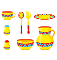 tableware ornaments vector image vector image