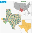 Texas map vector image vector image
