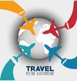 travel around world infographics vector image