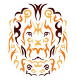 tribal lion vector image