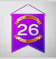twenty six years anniversary celebration design vector image vector image