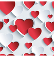 Valentines day seamless pattern with 3d heart vector image